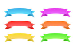 Set of color banners. Set of design elements banners ribbons. Vector illustration Stock Photo