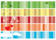 Set of color banners with nature - eps Stock Image