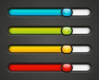 Set of color bars. Set of color progress bars Royalty Free Stock Photo