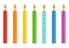 Set of color Birthday candles Stock Photo