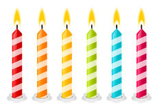 Set of color Birthday candles Royalty Free Stock Image