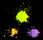 Set of color blots Stock Images