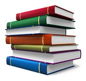 Set of color books Royalty Free Stock Photos