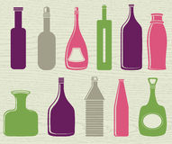 Set of color bottle, vector Royalty Free Stock Images