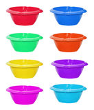 Set of color bowls Royalty Free Stock Images