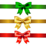 Set Of Color Bows royalty free stock photo