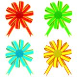 Set from color bows Stock Photo