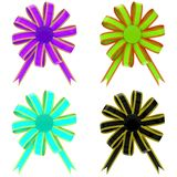 Set from color bows Stock Photos