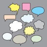 Set color bubbles for Speech and Comics. Vector Illustration. Set of color speech and comics bubbles. Vector Illustration Royalty Free Stock Image