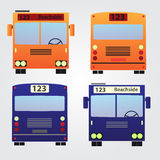 Set of color buses eps10 Royalty Free Stock Photo