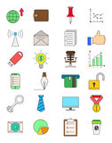 Set of color business icons Stock Image