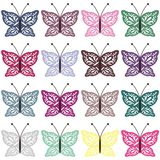Set with color butterflies on white Royalty Free Stock Photography