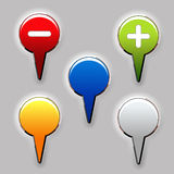 Set of color buttons Stock Photos