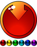 Set of color buttons with Arrows Royalty Free Stock Images