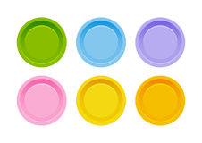 Set of color buttons Stock Images