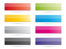 Set of color buttons Royalty Free Stock Photography