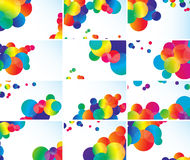 Set of color cards Royalty Free Stock Images