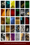 Set of color cards with architecture details Royalty Free Stock Image