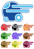 Set of color cartoon cars Stock Images