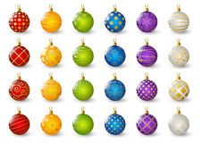 Set of color Christmas balls Royalty Free Stock Image