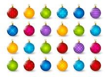 Set of color Christmas balls Stock Photo