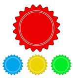 set of color circle seal stamp lace design, stock vector illustration, eps 10 royalty free illustration