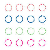 Set of color circle vector arrows.Vector illustration. Stock Image