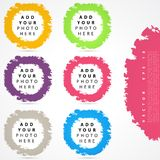 Set of color circles. Stock Images