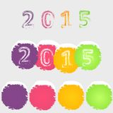 Set of color circles. Royalty Free Stock Photography