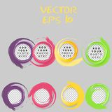 Set of color circles. Royalty Free Stock Image