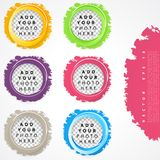 Set of color circles. Royalty Free Stock Images