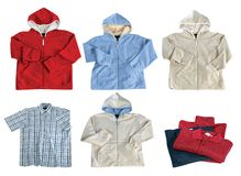 Set of color clothes Royalty Free Stock Photos