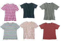 Set of color clothes isolated. On white background Stock Photos