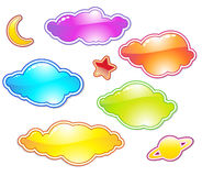 Set of color clouds Stock Photography