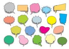 Set of color comic speech balloons. Vector Illustration stock illustration