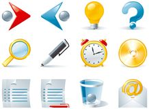 Set 1 of color computer icons Royalty Free Stock Images