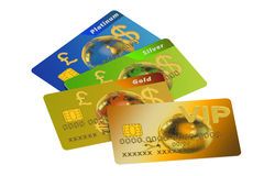 Set of color credit cards Stock Images