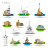 Set of color Crimea icons Royalty Free Stock Images