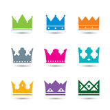 Set  color crowns Stock Photography