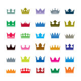 Set of color crowns. Vector Icons Royalty Free Stock Photos