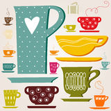 Set of color cup. wallpaper. Stock Image