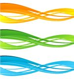 Set of   color curve lines design element. Stock Images