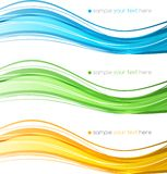 Set of   color curve lines design element. Royalty Free Stock Photography