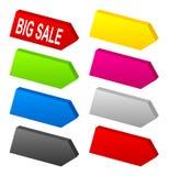 Set of color 3D arrows Stock Images
