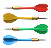 Set of color darts Royalty Free Stock Photos