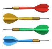 Set of color darts Royalty Free Stock Photos