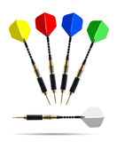 Set of color darts isolated Stock Photo
