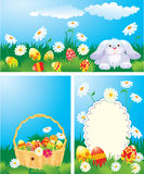 Set of color Easter banners. Stock Photography
