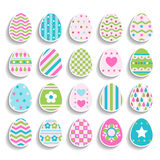 Set of color easter eggs decorated of ornament Stock Photography