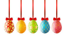 Set of color Easter eggs Royalty Free Stock Photo